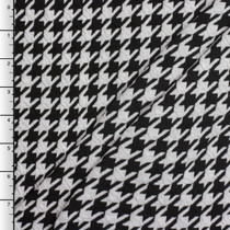 Large Black and White Houndstooth Double Knit