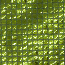 Lime Green Square Sequin Fabric