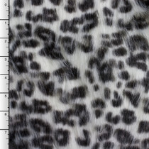 White Snow Leopard Long Pile Faux Fur
