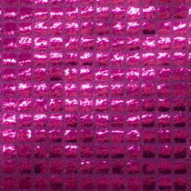 Fuschia Square Sequin Fabric