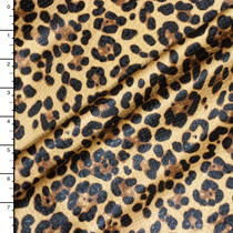 Leopard Print Midweight Stretch Pleather with Snakeskin Texture