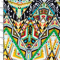 Large Tribal Chevron Pattern ITY Lycra