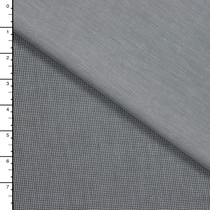 Grey Houndstooth and Chambray Double Cloth