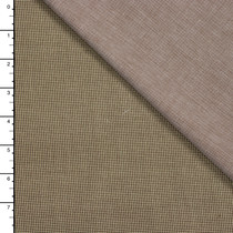 Tan and Brown Houndstooth and Chambray Double Cloth