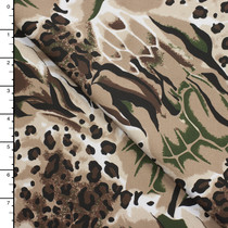 Animal Pattern Stretch Twill