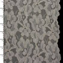 Ivory Embroidered Floral Stretch Lace