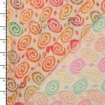 Multi Color Swirls Burnout Organza