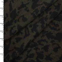 Olive, Brown, and Black Camoflage Heavy Wool Coating