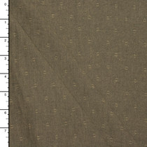 Olive Green Designer Midweight Dobby Weave Cotton