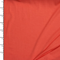 Bright Coral 4-Way Stretch Jersey Knit