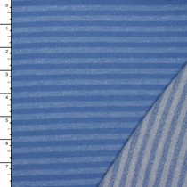 Light Blue on Blue Striped Lightweight French Terry