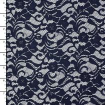 Navy Blue Designer Floral Lace