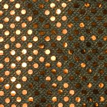 Copper on Black Mini Sequin Fabric