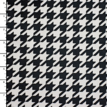 Black and White Houndstooth Minky Print