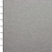 "Grey and White 1/16"" Stripe Recycled Polyester Knit"