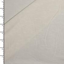 Ivory Slibbed Lightweight Organic Cotton Stretch Knit