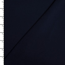 Navy Blue Organic Cotton Stretch French Terry