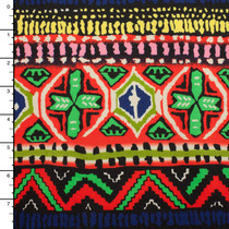 Orange, Green, Yellow, and Blue Tribal Pattern Ponte De Roma