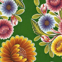 """Bloom"" Green Oilcloth"