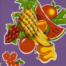"""Cane"" Purple Oilcloth"