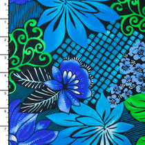 Designer Nylon/Lycra Swimwear Fabric – Floral Print #15102