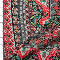 Bohemian Stripe Rayon Challis Print #15151