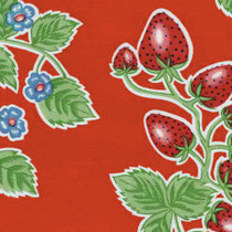 """Forever"" Strawberry Red Oilcloth"