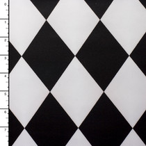 Black and White Harlequin Diamond Peau De Soie