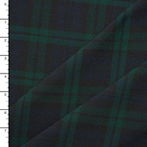 Midweight Black Watch Plaid Poly Poplin