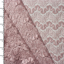 Blush Scallop Patterned Lace