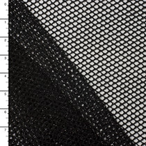 Black Fishnet with Silver Metallic Sparkles