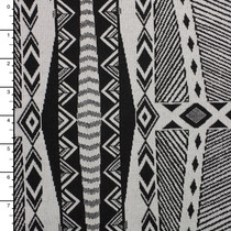 Black and White Tribal Style Double Knit