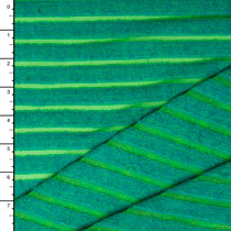 Teal and Neon Green Burnout Stripe Stretch Terry