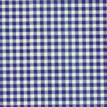 Gingham Plaid Royal Blue Oilcloth