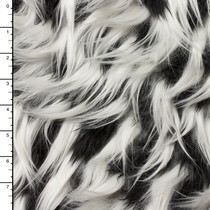 Black, White, and Grey Layered Designer Spike Fur