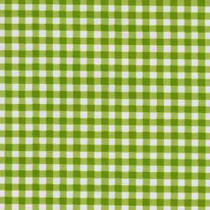 Gingham Plaid Kiwi Green Oilcloth