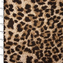 Leopard Print Midweight Tri-bend 4-way Stretch Knit