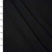 Black Midweight 4-way Stretch Rayon/Lycra Jersey Knit