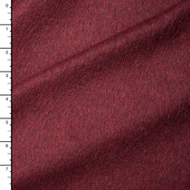 Wine Midweight Wool Coating #15394