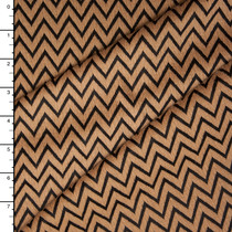 Tan and Black Textured Chevron Double Knit