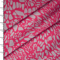 Pink and Grey Fragmented 4-way Stretch Ponte De Roma