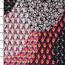 Gypsy Floral Circle Rayon Jersey Print