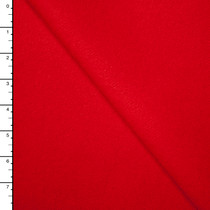 Bright Red Designer Wool Melton
