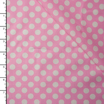 Pink and White Dots Lightweight Cotton Poplin
