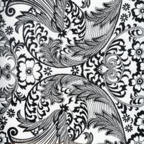 """""""Paradise Lace"""" Black Oilcloth"""
