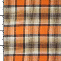 Orange, Tan, Brown, and Gold Plaid Flannel