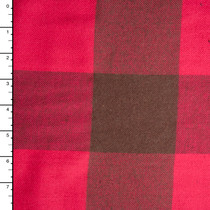 Hot Pink and Brown Large Buffalo Plaid Flannel