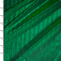 Green on Black Lined 4-way Stretch Metallic