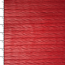 Matte Red Zig-Zag Crushed Pattern Lycra Lame