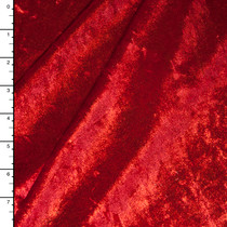 Red Shimmer Crushed Stretch Velvet